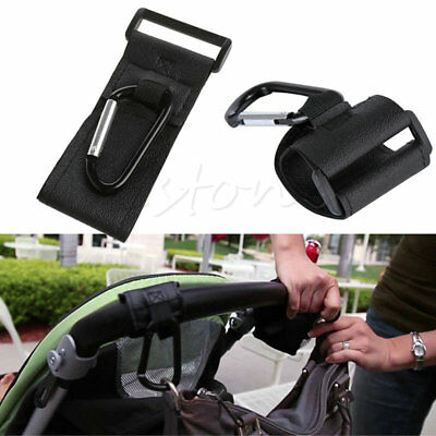 5Pcs Universal Mummy Buggy Clip Pram Pushchair Stroller Hook Shopping Bag Holder