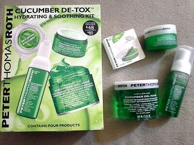 Peter Thomas Roth Cucumber Gel Mask Four Piece De-Tox Hydrating & Soothing Kit