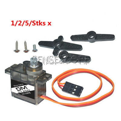 1/2/5/Stks MG90S Micro Metal Gear 9g Servo for RC Plane Helicopter Boat Car