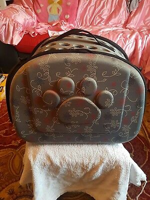 Pet Carrier Portable Folding Travel Small Dog/Cat Grey