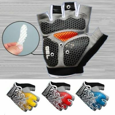 Road MTB Bike Bicycle Cycling Half Finger Gloves Silicone Gel Padded, Fingerless