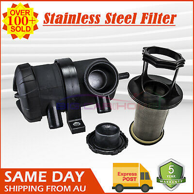 Pro 200 Oil Catch Can Stainless Filter fit Ford Patrol ZD30 D40 4WD Turbo Charge