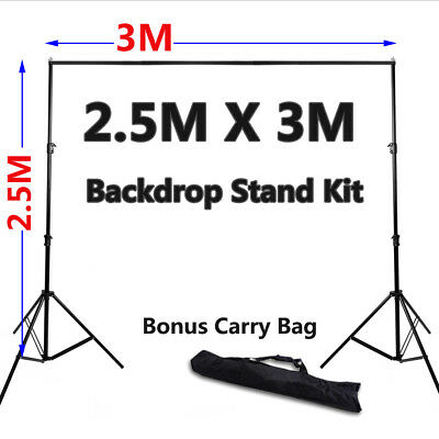 Heavy Duty Photo Photography Studio Background Backdrop Stand Kit & Free Bag