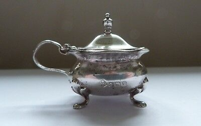 1920 - SOLID SILVER - MUSTARD POT - JAMES RAMSAY of DUNDEE