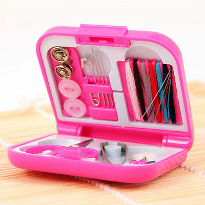 Portable Mini Travel Sewing Kit Box With Color Needle Threads Kits DIY Tools