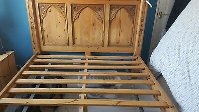 King Size Wooden Ornate Bed Frame No Mattress