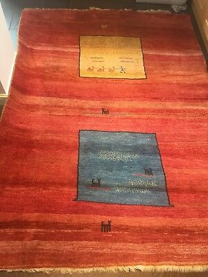 Gabbeh Hand Made Rug 260cm X 190cm Also With Certificate Of Origin. VGC