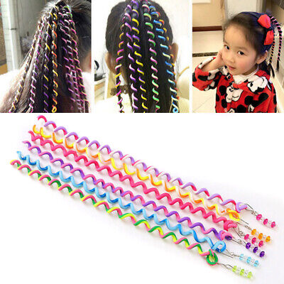 6PCS DIY Magic Circle Rainbow Roller Curler Spiral Hair Styling Twister Tool