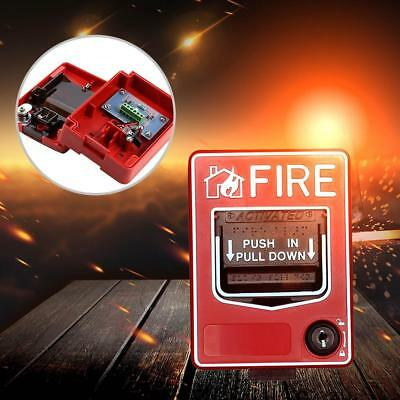 Fire Alarm Pull Station Addressable Single Action new~