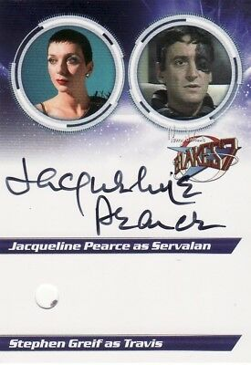 Jacqueline Pearce Blake/'s 7 Servalan Variety of Autographed//Costume Cards