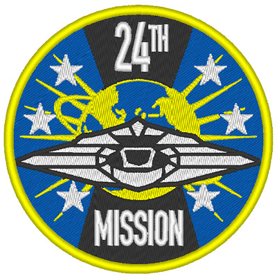 E0281 Embroidered Patch Lost In Space 2018 Mission 24 Round Patch