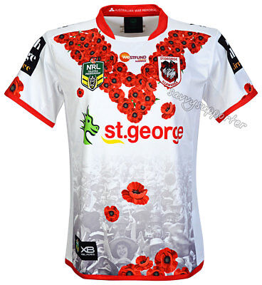 St George Dragons 2018 NRL Anzac Jersey Sizes S-5XL BNWT