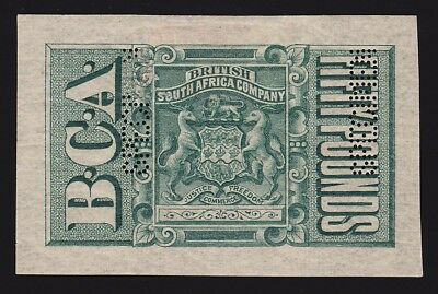 BRITISH CENTRAL AFRICA 1891 Revenue Arms £50 Imperf SPECIMEN GREAT RARITY!!