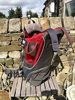 LittleLife Cross Country S2 baby/toddler carrier; red/grey; good condition.