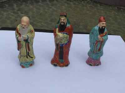 Three antique stutues of Chinese immortals
