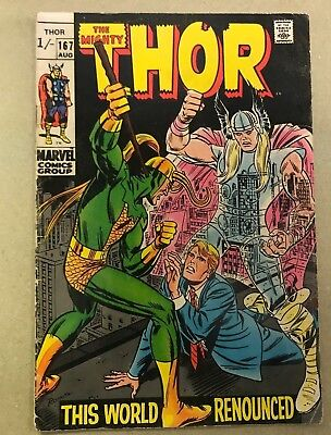 The Mighty Thor Comic 167 August 169