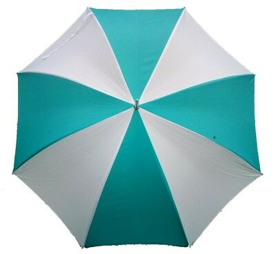 Golf Umbrella Wind Resistant Double Ribs & Windproof Spring - Turquoise & White