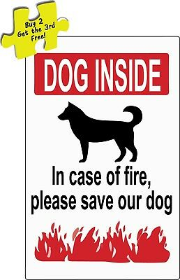Dog Inside In Case Of Fire Please Save Our Dog Decal Sticker #365