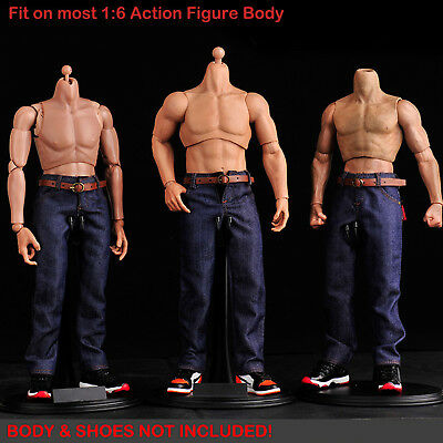 FT168 1/6 Clothing-Male Blue Jeans with Highly detailed Belt for HOT TOYS,PHICEN
