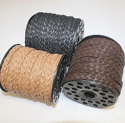 High Quality *Genuine Leather * Braided * Multi Colors * Option of 1 to 25 Yards