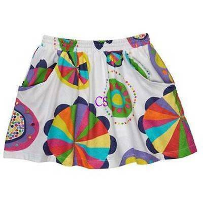 NWT-Tod Girls Carters White Multi Skort Skirt Scooter- 12 mths, 18 mths, 24 mths