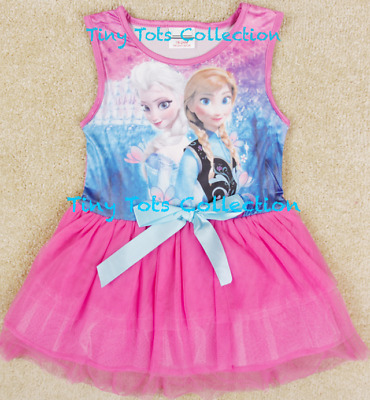 NEW with tags BNWT girls Frozen disney Elsa Anna party dress pink tutu size 2