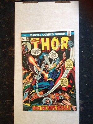 The Mighty Thor 214 Marvel Comic 1973 Vf- Early Bronze Age