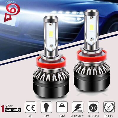 10000LM H11 H8 H9 LED Headlight Kit Bulbs SEOUL Chips Fog Light Lamp 6500K 72W