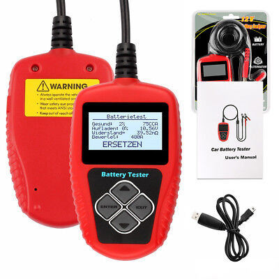 12V Professional Auto Batterietester Digital Analyzer Werkzeug 100-2000CCA BA101
