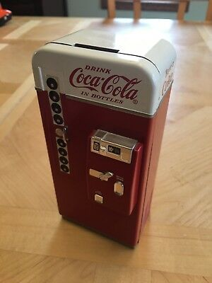 Collectible 1995 Coca Cola Music Box Vending Machine Coin Bank