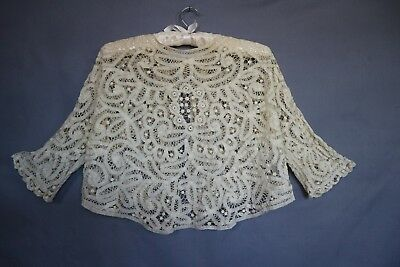 Vintage 1910/20s Stunning Lace Ribbon Butterfly Blouse ~ Intricate Details S