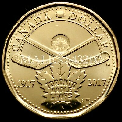 2017 Canada 1 Dollar 100Th Anniversary Of The Toronto Maple Leafs Unc 1$