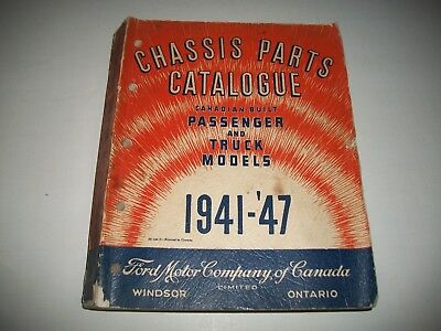 1941-1947 Ford Mercury Monarch Cars+ Trucks Canadian Illustrated Parts Catalog
