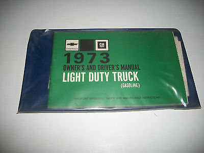 1973 Chevrolet Light Duty Trucks 10-30 Series Owners Manual With Pouch & More