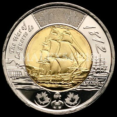 *** Canada 2012 Hms Shannon 2 Dollars Unc ***     >>Free $Hipping In Canada!<<
