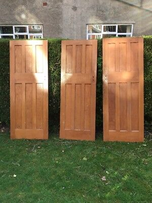 3 Pine Panelled Antique Doors