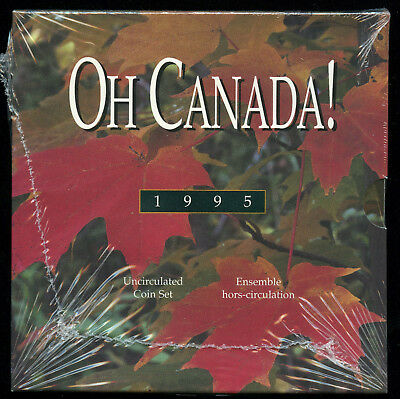 1995 Oh Canada! Uncirculated Mint Set of 6 Coins Sealed