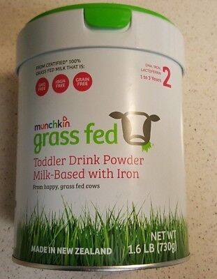 Munchkin Grass Fed Toddler Drink Powder. Milk Based/Iron, Stage 2, 1.6Lb Age 1-3