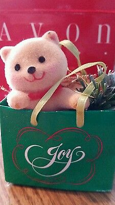 Avon Holiday Friend Ornament Cat in Bag