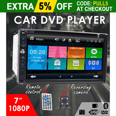 """In Dash Double 2Din Lens 7""""Car Stereo Radio DVD Player iPod Bluetooth MP3 AUX US"""