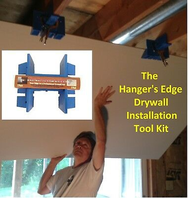 Drywall Tools (DIYer Installation Kit or Drywall Lift) -The Hanger's Edge 2 Pack