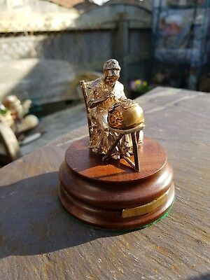 Rare Hallmarked London 1988 Silver Figure Of A Lacemaker Not Scrap Silver