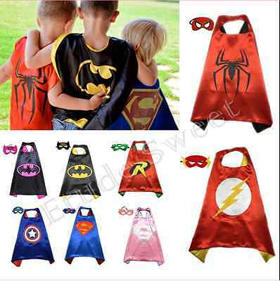 kids Boys Girl Superhero Cape cape&mask for kids birthday party favors and ideas