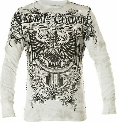 Xtreme Couture by AFFLICTION Men THERMAL T-Shirt GRAS PATRON  Biker MMA UFC $58
