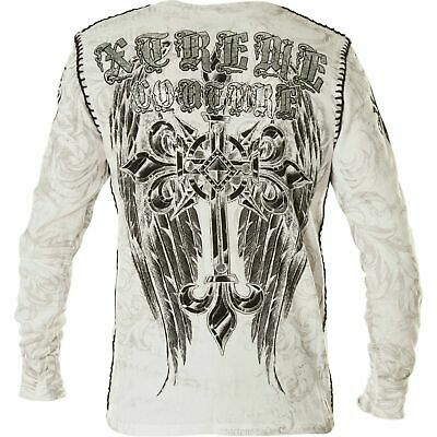 Xtreme Couture by AFFLICTION Men THERMAL T-Shirt HERCULES  Biker MMA UFC $58