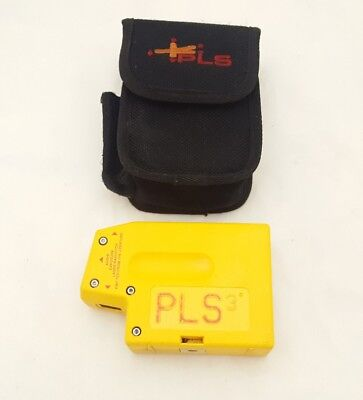 PLS3 3-point Red Beam Laser Level PLS-60523N by Pacific Laser Systems W/ Case