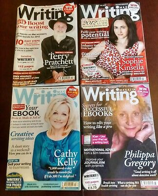 Writing Magazine - Jan Feb Apr Aug 2012 - 4 Issues - Terry Pratchett