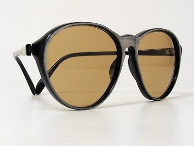 VINTAGE PLAYGIRL MOD 842 WOMEN'S SUNGLASSES ACETATE BLACK SILVER 1970/80s RARE
