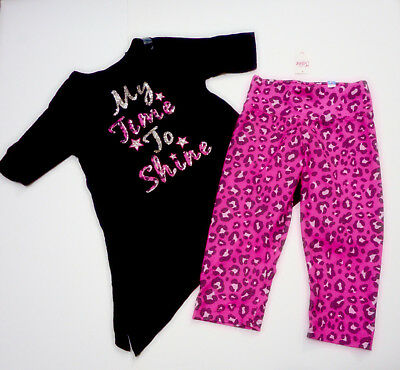 Justice Girls Size 10 Top Matching Size 8 Cropped Leggings Nwt