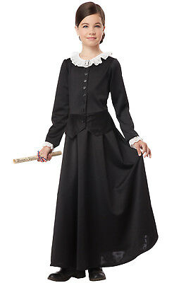 Brand New Susan B. Anthony Harriet Tubman Colonial Child Costume